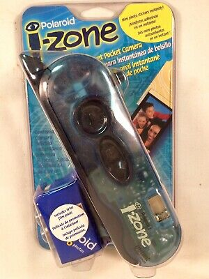 POLAROID I-ZONE translucent BLUE instant pocket camera NEW ~ SEALED!!!