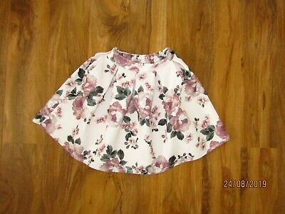 MONNALISA FLORAL pink SKATER SKIRT AGE 9 YEARS great condition neoprene
