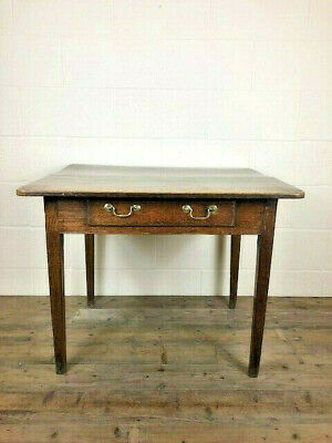 Small Antique 18th Century Oak Single Drawer Table - Delivery Available