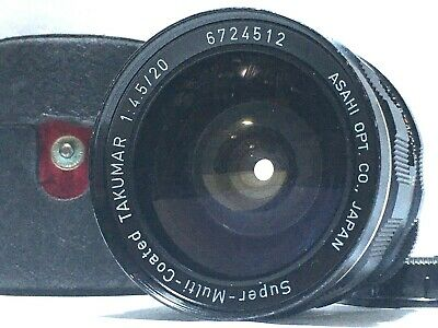 [Rare Exc+5] PENTAX SMC SUPER-MULTI-COATED TAKUMAR 20mm f4.5 M42 Lens From JAPAN