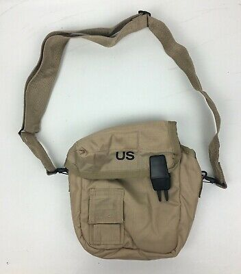 New US Army Military 2 Quart Desert Water Canteen Cover with Shoulder Strap