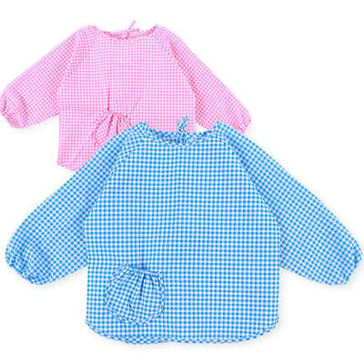 Baby Waterproof Long Sleeve Kids Feeding Art Smock Apron