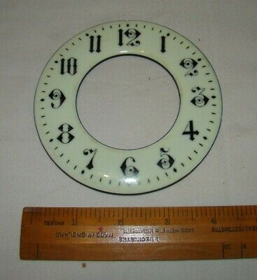 Antique Enamel Chapter Ring Clock Dial -  112mm