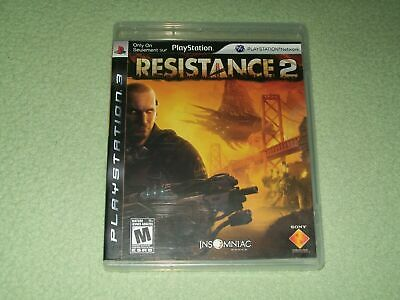 Resistance 2 MINT Disc Complete CIB Sony PS3 PlayStation 3 VERY Fast Ship World!