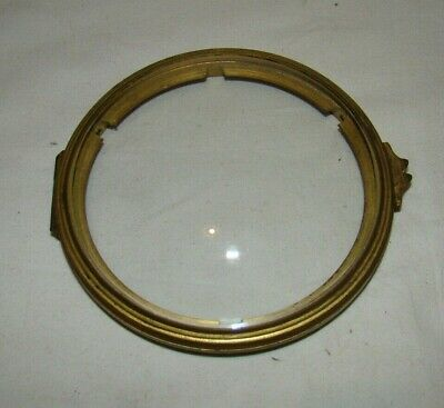 Antique Mantel Clock Convex Glass Hinged Door & Frame To Fit 107mm Hole