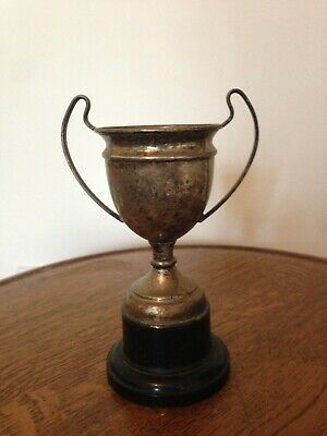 Vintage Silver Coloured Metal Trophy