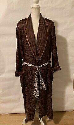 Vintage Gold Label Victoria Secret Womens Size M/L Burgundy   Satin Long Robe