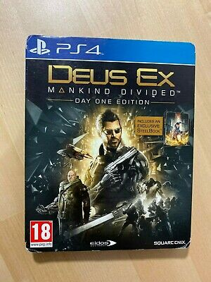 Deus Ex Mankind Divided - PlayStation 4 PS4 (Steelbook Edition) NO GAME