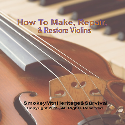 NEW-How to Make, Fix, Repair & Restore Violins and Bows-Instruction Books on CD