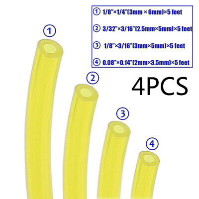 4 X Tygon Petrol Fuel Gas Line Pipe Hose Tube For Trimmer Chainsaw Blower Tools