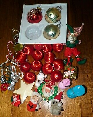 Bulk Lot Vintage Christmas Decorations