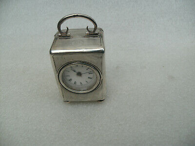 Antique Silver Carriage Clock For Repair