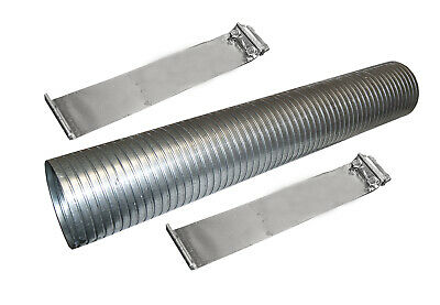 FLEX TUBING 1 7//8 in x 1ft GALVANIZED Standard THICKNESS #8867 Exhaust