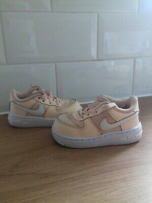 Nike Infant-Kids Girls Air Force 1 Peach Sneakers Eu 21 Uk4.5