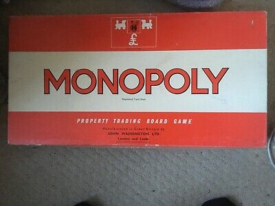 Vintage Monopoly Board Game Classic Red Box 1972 Complete Waddingtons