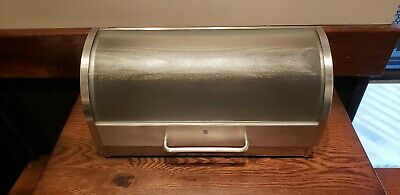 WMF Americas 06.3441.6030 Stainless Steel Bread Box Opaque Glass Roll Top Lid