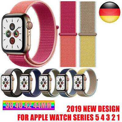 Für Apple Watch Nylongewebe Sport Loop Armband Series 1 2 3 4 5 38/42mm 40/44mm