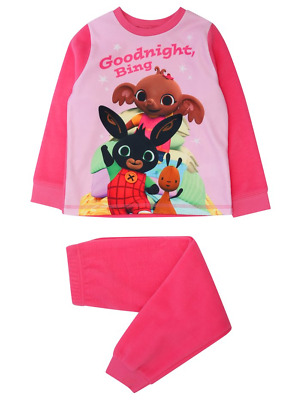 Bing Bunny Girls Pink Fleece Pyjamas 1 to 4 Years BNWT