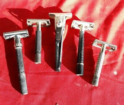 Vintage Gillette & Schick Safety Razor Shave Lot With Original Box's