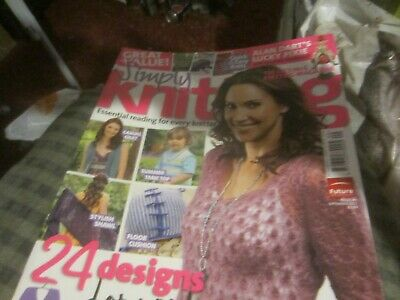 Simply Knitting  Magazine Issue 84 With Alan Dart's Lucky Pixie