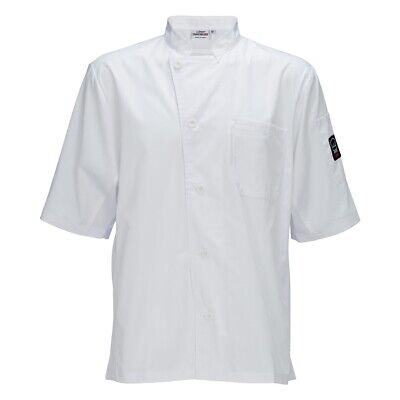 Winco UNF-9WM Broadway Ventilated Cook's Shirt