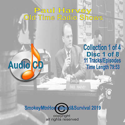 Set 1 / 4 The Rest Of The Story Paul Harvey Old Time Radio OTR 8 Audio CD 10+hrs