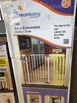 """10.5"""" Extension for Dream Baby Chelsea Extra Tall Gate (not included), White"""