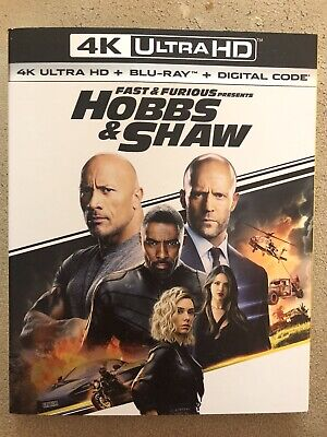 Fast & Furious Presents: Hobbs & Shaw-4K HD Only with Case and Slip Cover