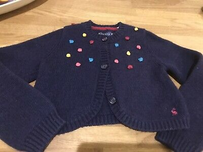 Gorgeous Joules Girls Navy Blue Cardigan. 8yr. Immaculate Condition