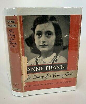 Anne Frank: The Diary of a Young Girl 1952 First Edition, early printing w/ DJ