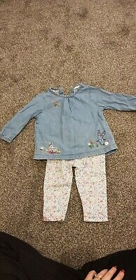 Next girls top and leggings 6-9 months