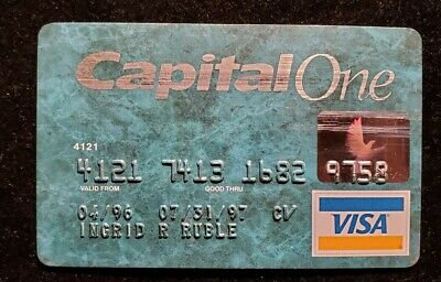 1997 Capital One Visa credit card ♡Free Shipping♡ cc492