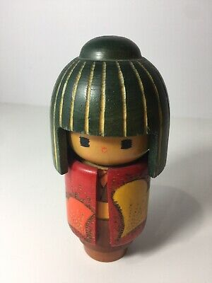 Rare Kokeshi Doll Vintage Japanese Kokeshi Doll Antique Japanese Wood