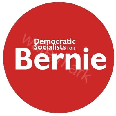 Official 2020 Democratic Socialists For Bernie Sanders Button 2.25in