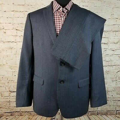 Banana Republic Modern Slim Fit Wool 44R 35x32 Men's Suit Blazer Blue