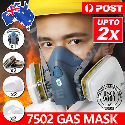7502 Piece Suit Half Face Respirator Painting Spraying Mouth Mask