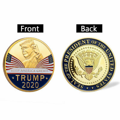 2020 US President Donald Trump KEEP AMERICA GREAT Plated EAGLE Coins
