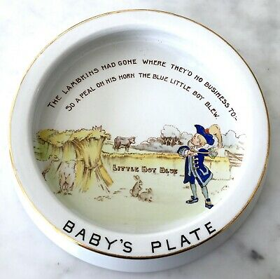 Christening Gift c.1910 Shelley England Baby's Plate Antique Excellent Condition