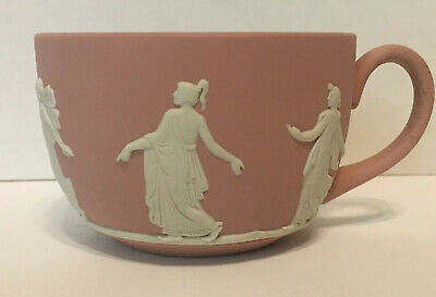 """25% OFF!  Wedgwood Jasperware Very Rare  PINK Cup -ExcCondition """"Dancing Hours"""""""