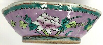 Antique 1900s Large Chinese Flower Bowl