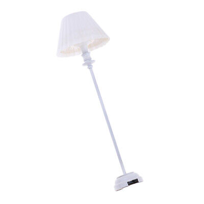 1:12 Scale Working Brass Floor Lamp Dolls House Miniature Lights Accessory 020