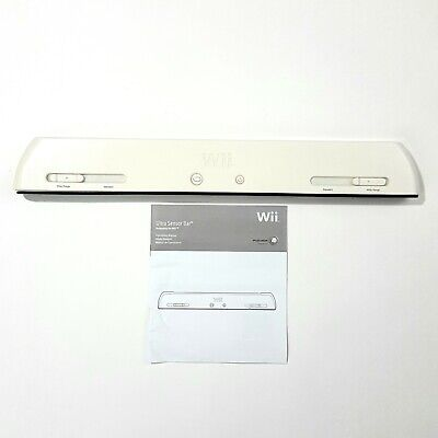 Official Nintendo Wii Ultra Sensor Bar Power White with Manual