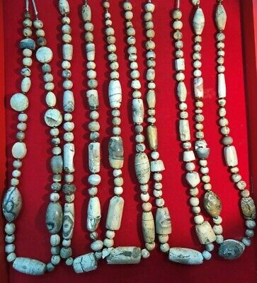Rare burned agate beads from the ancient Indus Civilization (2600 / 1700 BCE)