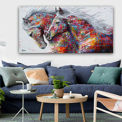 Horse Picture Abstract Canvas Wall Art Hanging Painting Pictures Home Decor