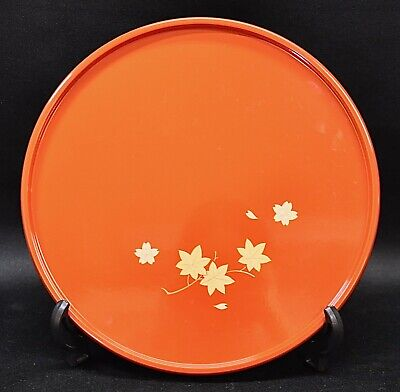 Vintage Japanese Lacquer in perfect condition Wooden tray for tea ceremony(IMS)