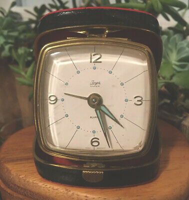 Jerger Travel Alarm Clock West Germany 2 Jewel  Works Beautifully Free Shipping!