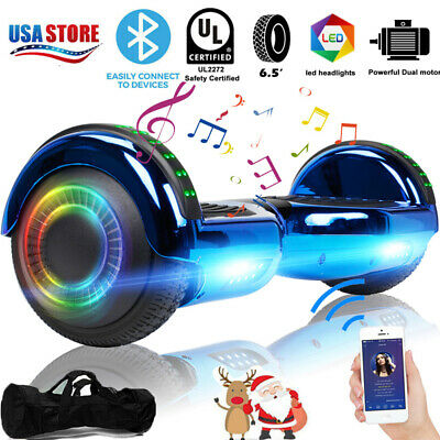 "Hoverboard Scooter 6.5"" Self Balance Hover board Bluetooth LED w/ Bag Best Gift"