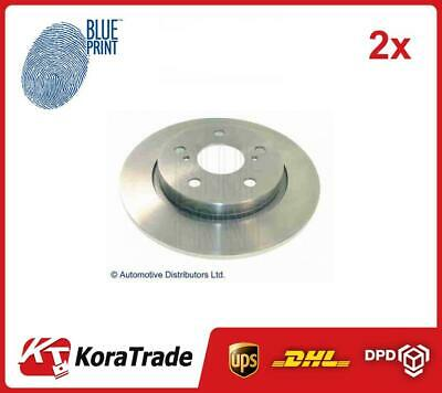 2x ADT343266 BLUE PRINT REAR OE QUALITY BRAKE DISC SET