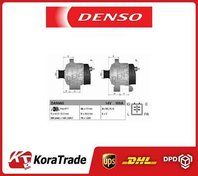 NOT REMANUFACTURED DENSO Alternator DAN1105BRAND NEW NO SURCHARGE