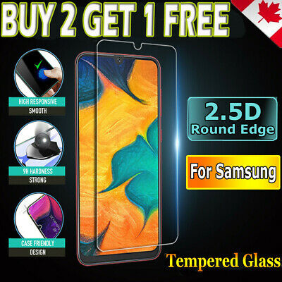 2x Samsung Galaxy A50 A70 Tempered Glass Full Cover Screen Protector Film Guard